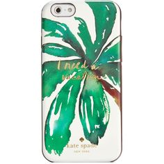 kate spade new york I Need A Vacation iPhone 6/6S Case ($26) ❤ liked on Polyvore featuring accessories, tech accessories, tech, multi and kate spade