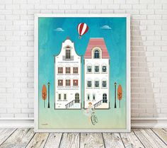 laminas decorativas, laminas vintage, laminas retro, laminas casas, laminas a3, laminas casas, cuadros casas, laminas ciudades, ilustracion