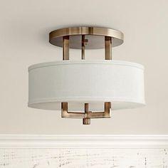 "Hinkley Hampton 15"" Wide Brushed Bronze Ceiling Light"