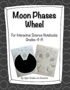 Moon Phases Wheel for Interactive Science Notebooks TPT Science Classroom, Teaching Science, Science Activities, Science Experiments, Science Ideas, Teaching Ideas, Classroom Ideas, 8th Grade Science, Middle School Science