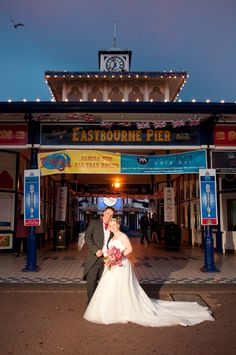 Our wedding reception on eastboune pier