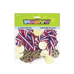 Pack Of 24 Loot Bag Favour Winners Medals for just £4.45