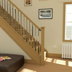 Oak Staircase with Axxys squared stair spindles