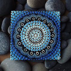 Water Design Australian Aboriginal Dot Painting by RaechelSaunders