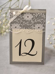 Wedding Table Numbers Rustic Table Numbers di 4LOVEPolkaDots, $5.00-but red ribbon instead for my wedding colors.