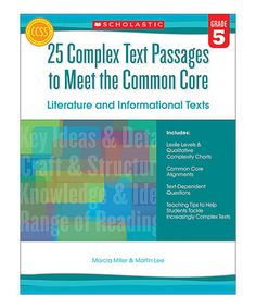 Another great find on #zulily! Text Passages to Meet the Common Core: Literature #zulilyfinds