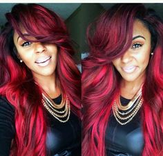 I live for red hair. http://www.latesthair.com/ Human hair extensions - Free US Shipping