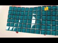 Glass Mosaic Tile Backsplash Turquoise 1x1 mesh mounted on a 12x12 sheet for kitchen backsplash, bathroom, shower, featured wall and swimming pool. - See more at: http://www.mineraltiles.com/glass-mosaic-tile-backsplash-turquoise-1x1/