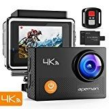 APEMAN Trawo Action Camera 4K WiFi Ultra HD 20MP Underwater Waterproof 40M Camcorder with 170 ° Ultra-Wide Angle Panasonic Sensor EIS Stabilization Dual 1350 mAh Batteries  APEMAN Trawo Action Camera 4K WiFi Ultra HD 20MP Underwater Waterproof 40M Camcorder with 170 ° Ultra-Wide Angle Panasonic Sensor EIS Stabilization Dual 1350 mAh Batteries Product DescriptionIncredible Video Quality & MultifunctionalAPEMAN A77 features 4K ultra HD video recording. You can capture 4K 25fps/2.7K 30f..