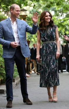 William Duke of Cambridge and Catherine Duchess of Cambridge at a reception in Berlin. July 20 2017