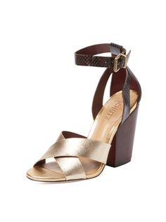 Imogen Leather Sandal from Summer Trend: Block-Heel Sandals on Gilt