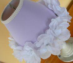 shabby chic lamp shades | SHABBY CHIC LAVENDER LIGHT PURPLE LAMP SHADE CHILD BEDROOM FLOWERS ...