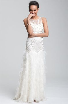 Sue Wong 'Feather' Beaded Gown | Nordstrom