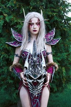 Night elf from Warcraft cosplay by Christina Volkova Elf Cosplay, Superhero Cosplay, Elf Costume, Cosplay Armor, Cosplay Outfits, Girl Costumes, Cosplay Girls, Cosplay Costumes, Costume Ideas
