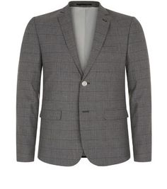 Wear this Grey Check Blazer with a checked shirt and chinos for that 'country gent' look.
