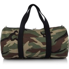 Saint Laurent Camouflage Weekend Bag ($870) ❤ liked on Polyvore featuring bags, yves saint laurent, camouflage bag, overnight bag, military bags and weekender bags