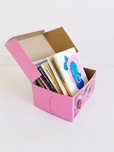 box of art books from los angeles art book fair / sfgirlbybay
