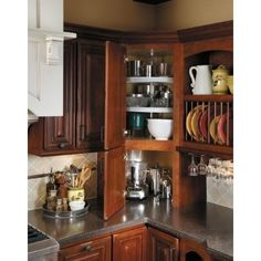 kitchen cabinets - Upper Corner Kitchen Cabinet Ideas