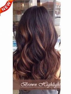 brown highlights in black hair - Google Search