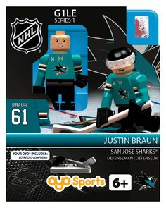 San Jose Sharks Justin Braun (Gen 1 Limited Edition)