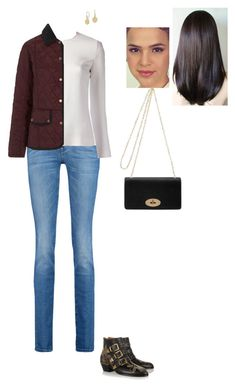 """Sem título #9303"" by gracebeckett on Polyvore featuring moda, 7 For All Mankind, STELLA McCARTNEY, Chloé, Barbour e Mulberry"