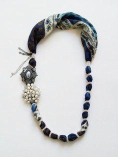 DIY scarf necklace @Deirdre Coakley Eldredge Wiliams
