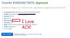 Here is my Withdrawal Proof from AdClickXpress. I get paid daily and I can withdraw daily. Online income is possible with ACX, who is definitely paying - no scam here. Thank You ACX!!!! http://www.adclickxpress.com/?r=vjgrhf23ugw&p=aa