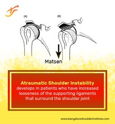 Atraumatic instabilityis a condition in which theshoulderstarts to slip part way out of joint without having had a significant injury.Atraumatic instabilitymay arise from a variety of causes.  For enquiries and online appointments, send a message @ www.BangaloreShoulderInstitute.com/contact #AtraumaticShoulderInstability #AtraumaticShoulderDislocation #ShoulderDislocation #BangaloreShoulderInstitute Shoulder Replacement Surgery, Shoulder Surgery, Joint Replacement, Shoulder Joint, Shoulder Arthroscopy, Knee Arthroscopy, Shoulder Doctor, National Board Certification, Shoulder Dislocation