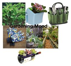 """Gardening Mood"" by gigi-sessions ❤ liked on Polyvore featuring interior, interiors, interior design, home, home decor, interior decorating, Picnic at Ascot and Avon"