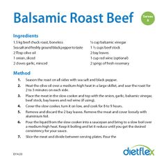 Balsamic Roast Beef #HealthyRecipes #dietflex