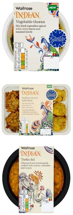 Waitrose Indian range illustrated by Daniela Terrazzini