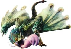 Image result for monster hunter world green eyed winged creature