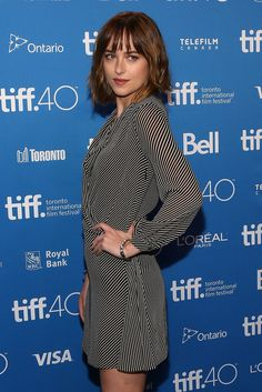 The Shape-Shifting Power of the Right Bangs: Dakota Johnson Wears Hers Three Ways
