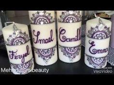 Bougies Henna..Henna candles - YouTube