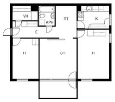 Kuvahaun tulos haulle asunto pohjapiirros
