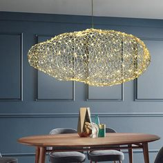 Wohnen Amica - Modern Art Deco Star Light Dotted Cloud Lamps – Warmly Bracelets Through The Ages The Chandelier For Sale, Art Deco Chandelier, Art Deco Lighting, Luxury Lighting, Modern Lighting, Lampe Art Deco, Cloud Lamp, Luminaire Led, Led Light Fixtures