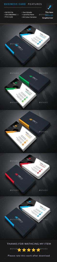 Business Card Template PSD. Download here: http://graphicriver.net/item/business-card-/15985343?ref=ksioks