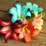 These bright and beautiful paper flowers are made from scrapbook paper and cardstock and were inspired by the gorgeous tropical flowers in warm weather climates. So if you want to have a bit of the tropics in your home year round, make these tropical paper flowers! A bonus… they never need