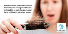 Hair Restoration is the wonderful option for those who suffer from significant hair loss and would like to regain the appearance of having a full head of hair without surgery.