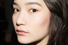 Beautiful natural makeup at Rodarte.