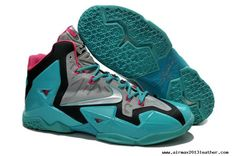 Neo Turquoise/Grey-Pink Nike Lebron XI (11)