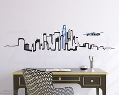Los Angeles Skyline Wall Vinyl Decal by Zapoart on Etsy, $54.00