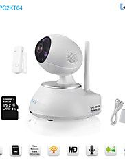 Snov Wifi Night Vision IP PTZ Camera with Door Sensor & 64GB TF card,Motion Detection, P2P Wireless Camera with APP