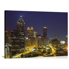 Bring the a small piece of the empire of the south home with the Great BIG Canvas Atlanta Georgia Canvas Wall Art Print . Atlanta Skyline, Seattle Skyline, New York Skyline, Big Canvas, Canvas Wall Art, Wall Art Prints, Panoramic Pictures, Atlanta Georgia, Beautiful Buildings