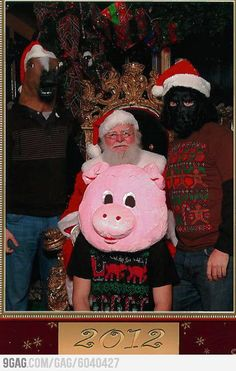 It's about time someone made Santa uncomfortable.
