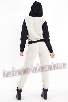 Trening Dama Casual Bej Cu Negru Model Deosebit Online Shopping For Women, Clothes For Women, Casual, Model, Outerwear Women, Scale Model, Models, Template