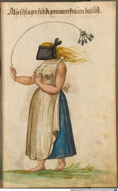 BDSM . Self-flagellation Kostümbuch [Costume Book], copy according to the costume book of Christoph Weiditz, c. 1600, BSB Cod.icon. 342, Bayerische Staatsbibliothek - Bavarian State Library. …