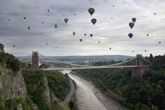 Bristol, England. Balloon festival.