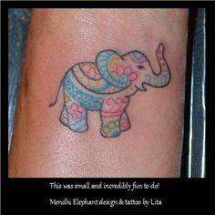 Elephant just outline no color