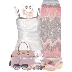 Ombre Floral Maxi, created by kelley74 on Polyvore